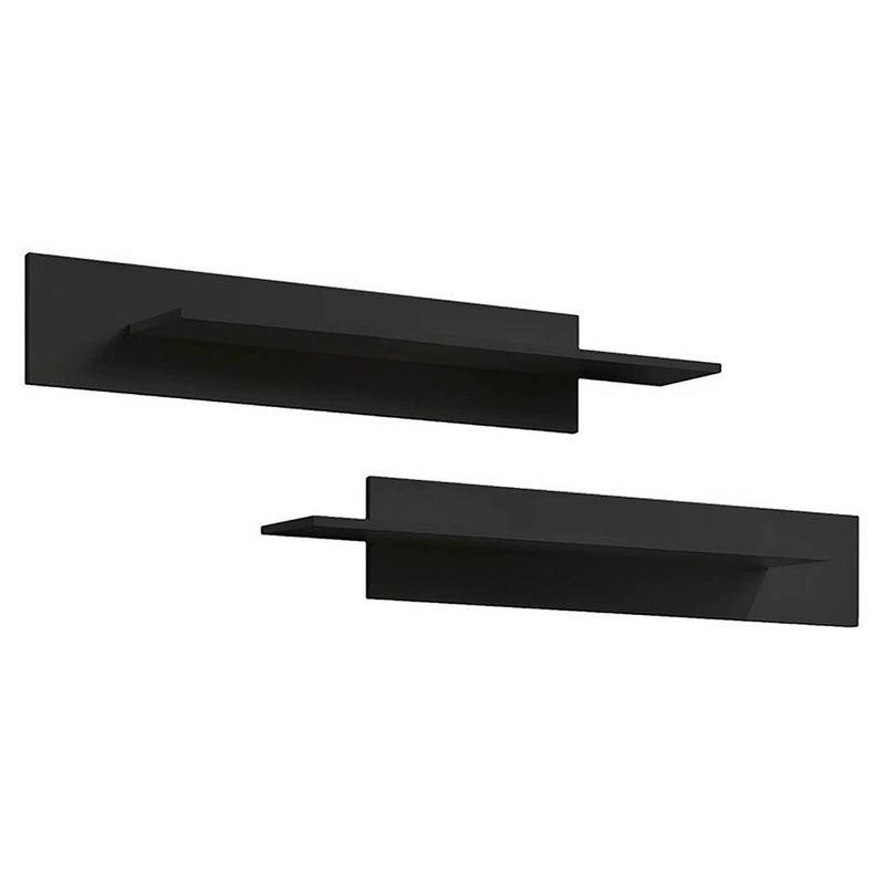 Fly Type-MX Wall Mounted Floating 2 Piece Shelf Set