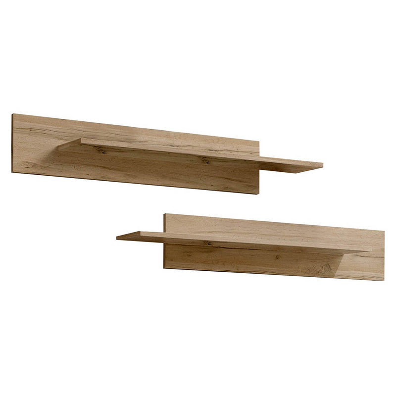 Fly Type-MX Wall Mounted Floating 2 Piece Shelf Set - Meble Furniture