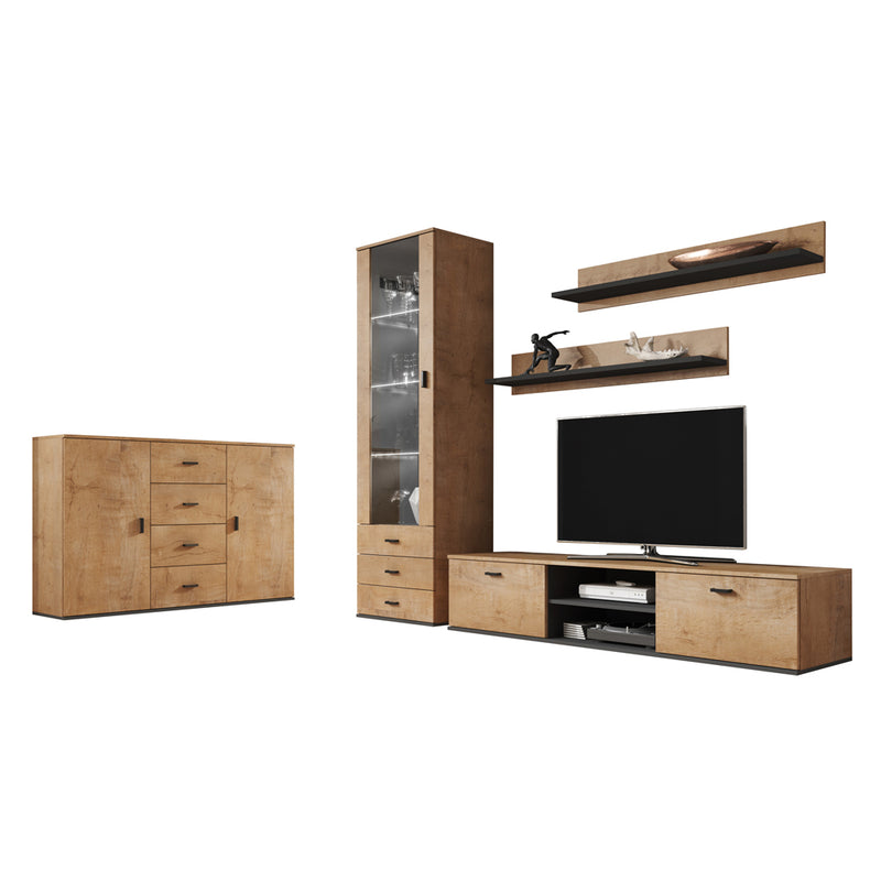 Soho 2 Modern Wall Unit Entertainment Center - Meble Furniture