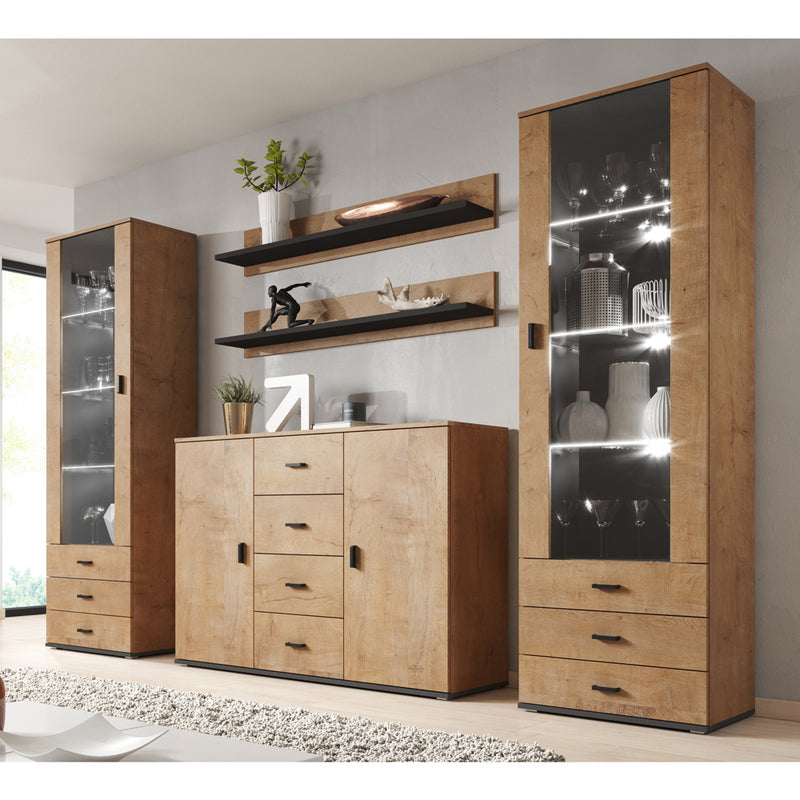 Soho 3 Modern Wall Unit Entertainment Center - Meble Furniture