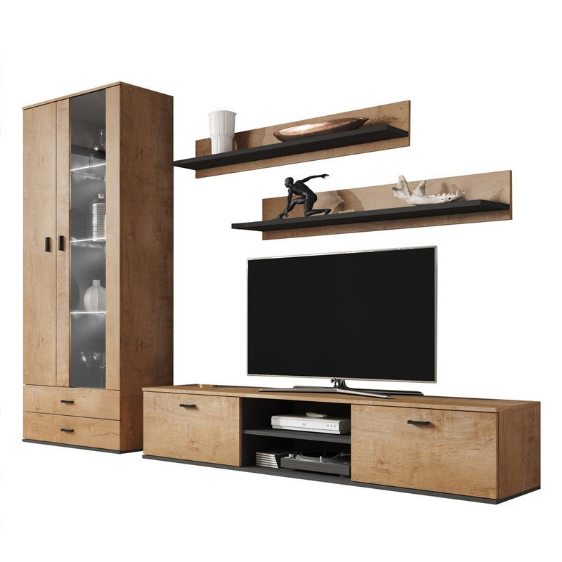Soho 8 Modern Wall Unit Entertainment Center - Meble Furniture