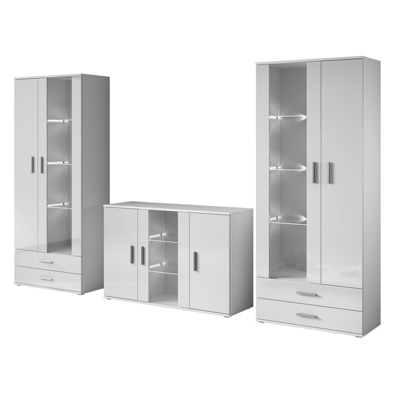 Soho 10 Modern Wall Unit Entertainment Center - Meble Furniture & Rugs