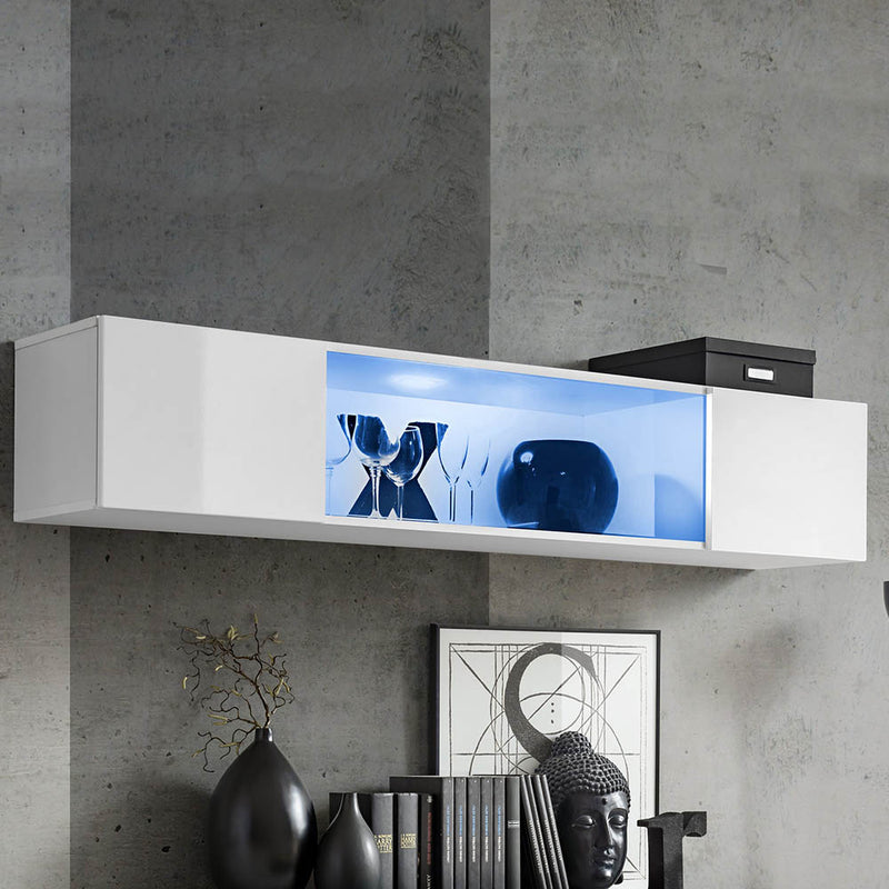 Fly Type-52 Wall Mounted Floating Hanging Media Cabinet
