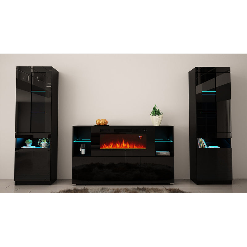 Komi 03 Electric Fireplace Modern Wall Unit Entertainment Center - Meble Furniture