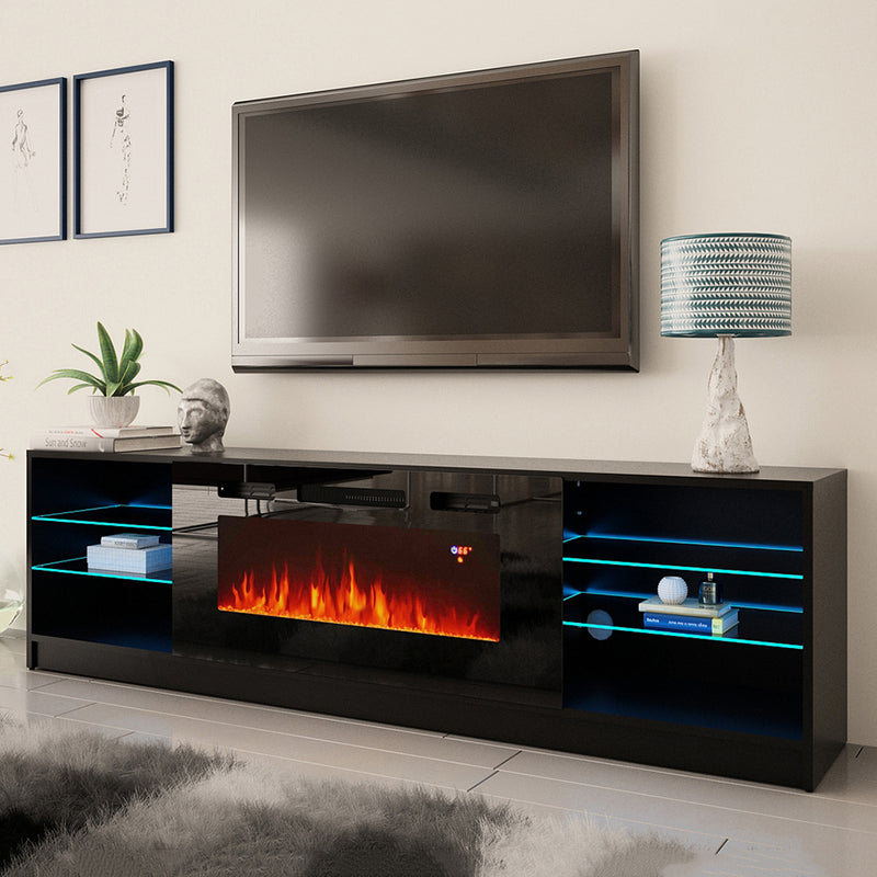 "Boston 01 Electric Fireplace Modern 79"" TV Stand"