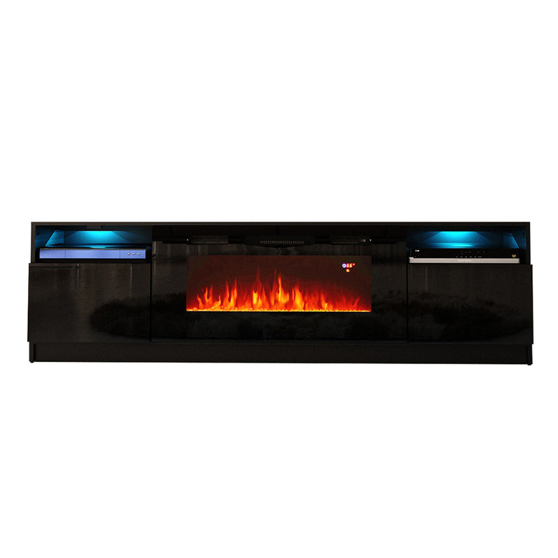 "York 02 Electric Fireplace Modern 79"" TV Stand - Meble Furniture"