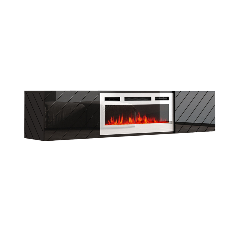 "Luxe WH-EF Wall Mounted Electric Fireplace Modern 72"" TV Stand - Meble Furniture"