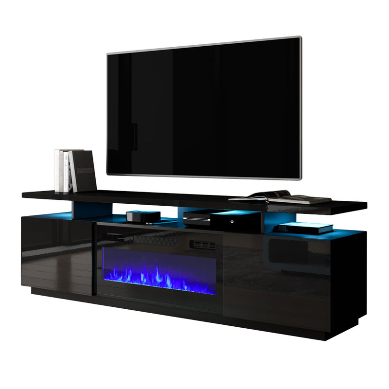 "Eva-KBL Electric Fireplace Modern 71"" TV Stand - Meble Furniture"
