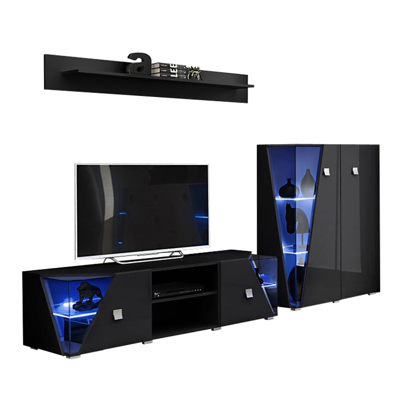 Edge Set TV-CUR-SH Modern Wall Unit Entertainment Center - Meble Furniture