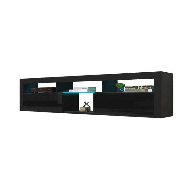 "Bari 200 Wall Mounted Floating Modern 79"" TV Stand - Meble Furniture"