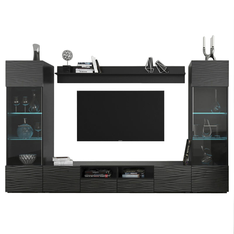 "Modica Modern 102"" Wall Unit Entertainment Center - Meble Furniture"