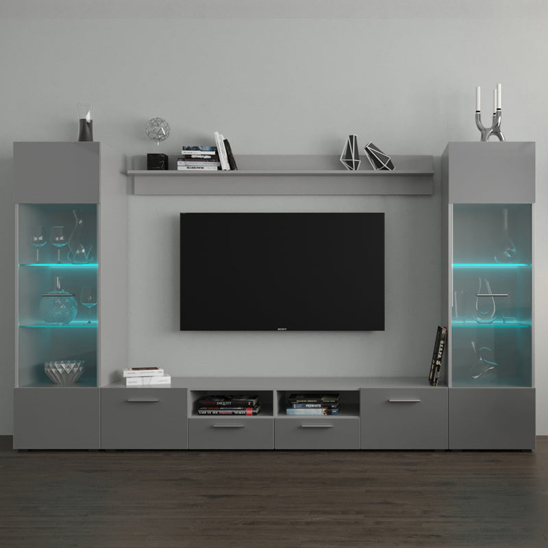 "Modica Modern 102"" Wall Unit Entertainment Center - Meble Furniture & Rugs"