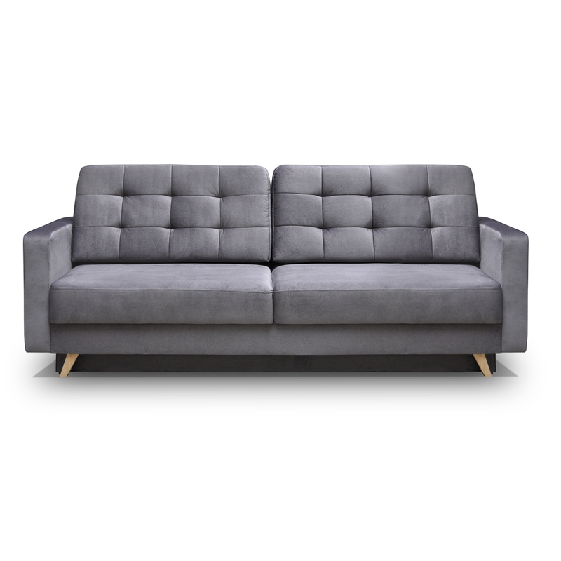 Vegas Mid-Century Modern Tufted Futon Sofa - Meble Furniture & Rugs