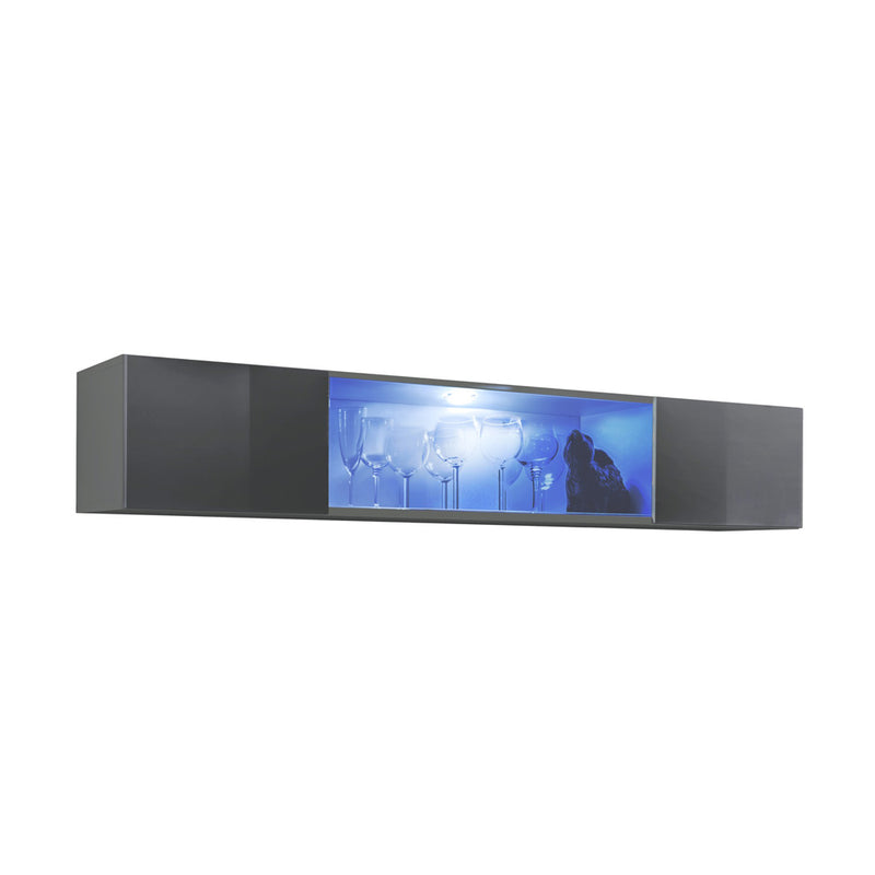 Fly Type-52 Wall Mounted Floating Hanging Media Cabinet - Meble Furniture