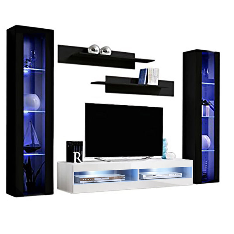 Fly A 34TV Wall Mounted Floating Modern Entertainment Center - Meble Furniture & Rugs