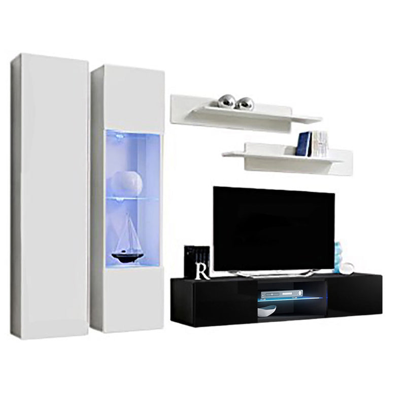 Fly A 33TV Wall Mounted Floating Modern Entertainment Center - Meble Furniture & Rugs