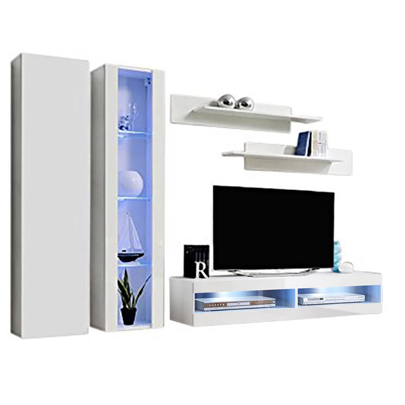 Fly A 34TV Wall Mounted Floating Modern Entertainment Center