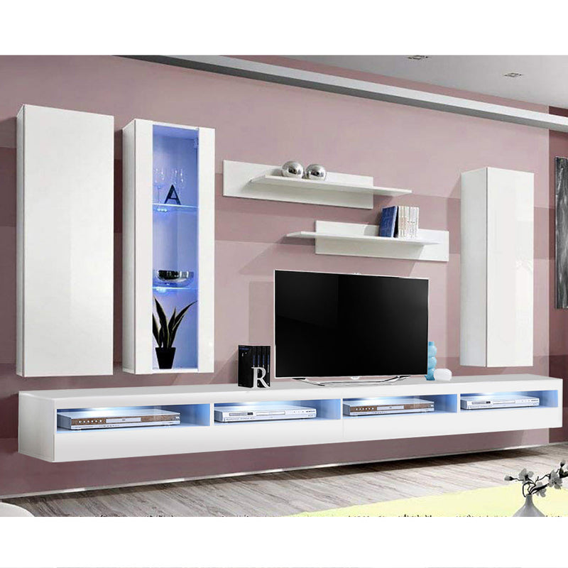 Fly E 35TV Wall Mounted Floating Modern Entertainment Center