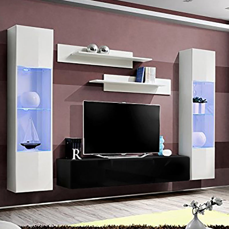 Fly A 30TV Wall Mounted Floating Modern Entertainment Center - Meble Furniture