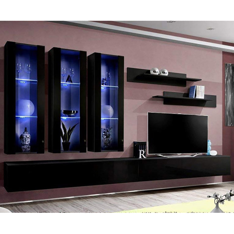 Fly E 30TV Wall Mounted Floating Modern Entertainment Center