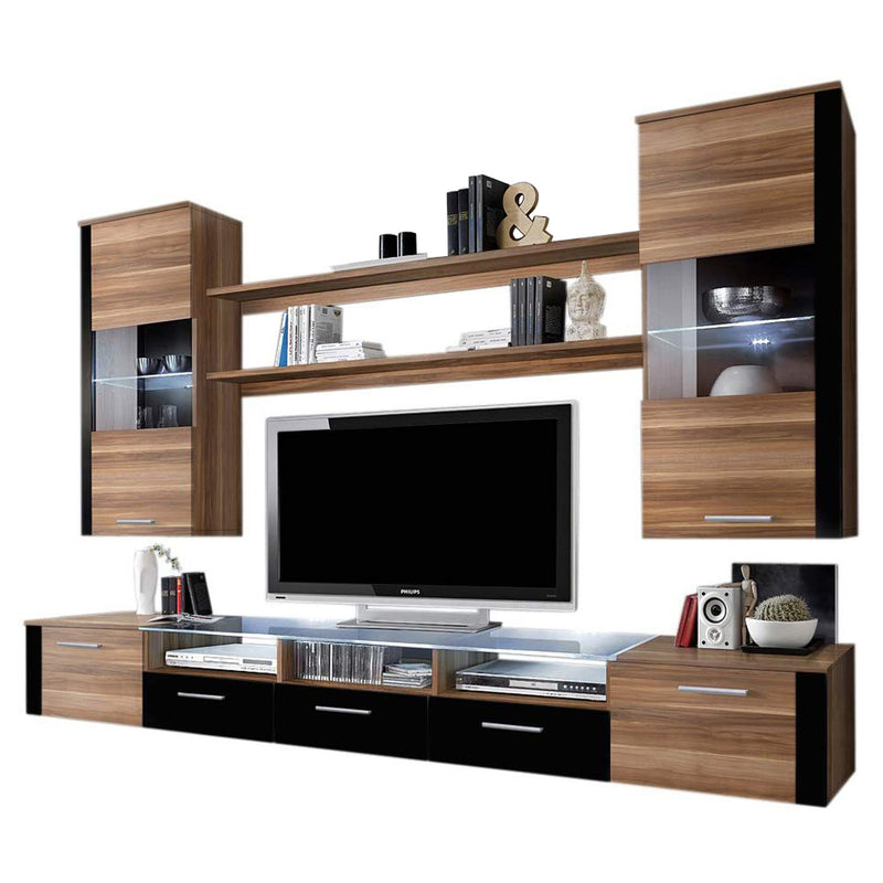 "Fresh Modern 98"" Wall Unit Entertainment Center - Meble Furniture"