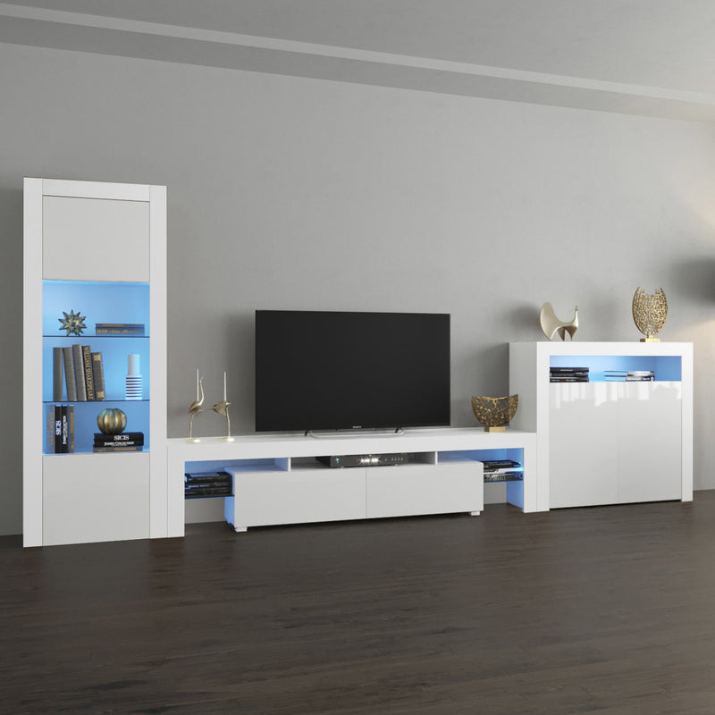 Milano Set 200-BK-2D Modern Wall Unit Entertainment Center - Meble Furniture