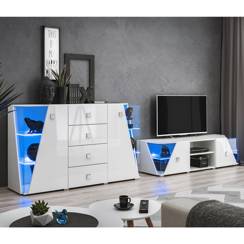 Edge Set TV-SB Modern Wall Unit Entertainment Center - Meble Furniture