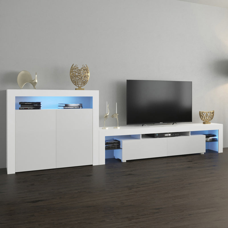 Milano Set 200-2D Modern Wall Unit Entertainment Center - Meble Furniture