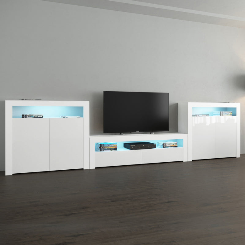 Milano Set CLA-2D-2D Modern Wall Unit Entertainment Center - Meble Furniture