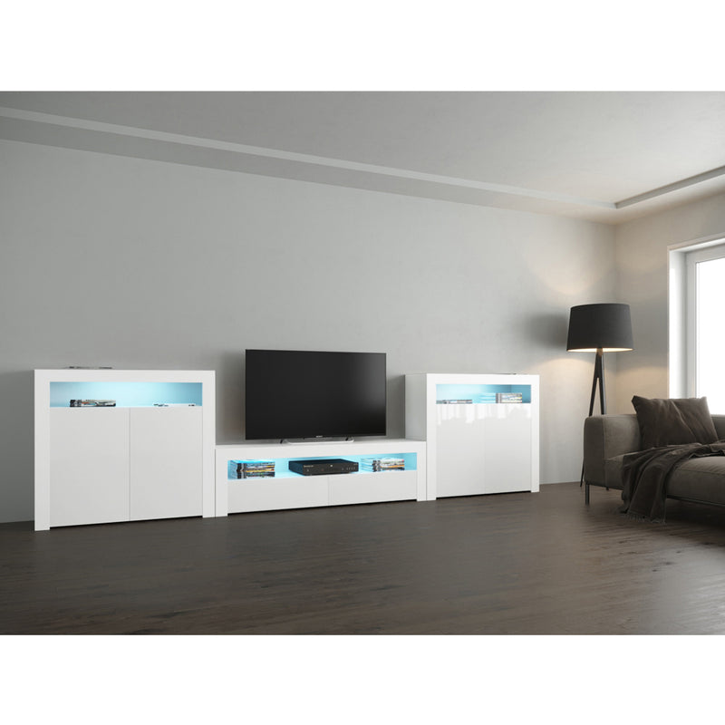 Milano Set CLA-2D-2D Modern Wall Unit Entertainment Center