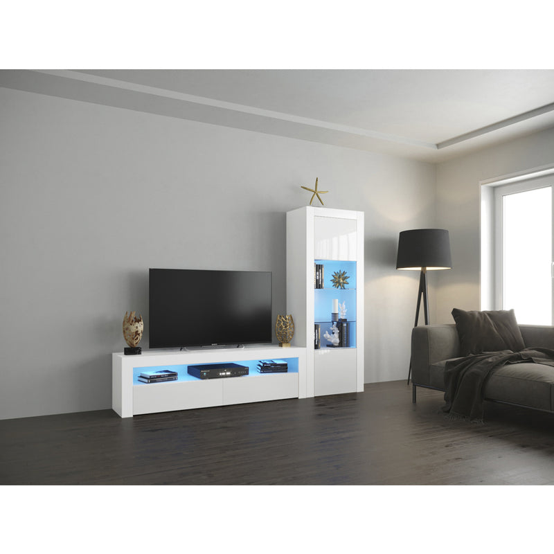 Milano Set CLA-BK Modern Wall Unit Entertainment Center - Meble Furniture