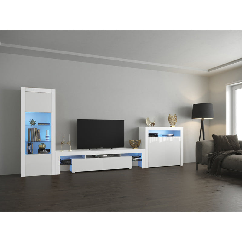 Milano Set 200-BK-2D Modern Wall Unit Entertainment Center