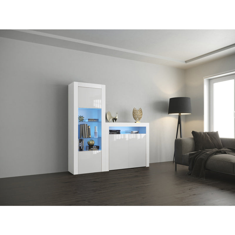 Milano Set 2D-BK Modern Wall Unit Entertainment Center - Meble Furniture