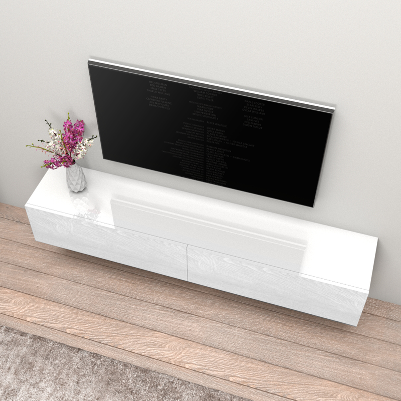 "Berno Wall Mounted Floating Modern 71"" TV Stand - Meble Furniture"