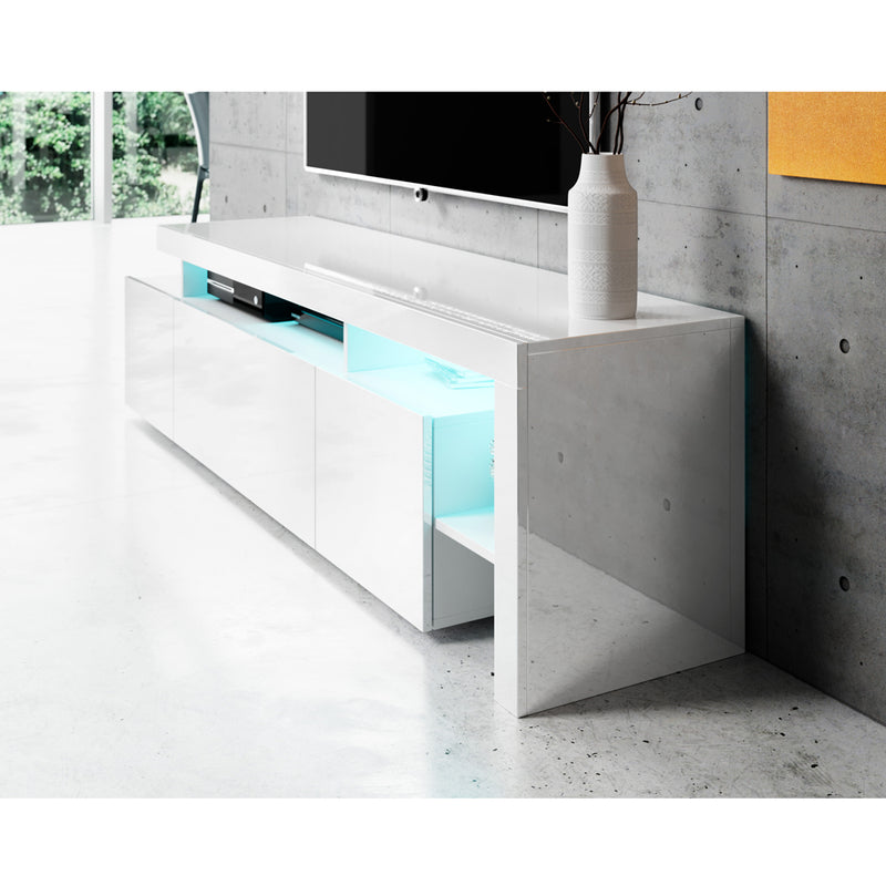 "Bari 200 Wall Mounted Floating Modern 79"" TV Stand"