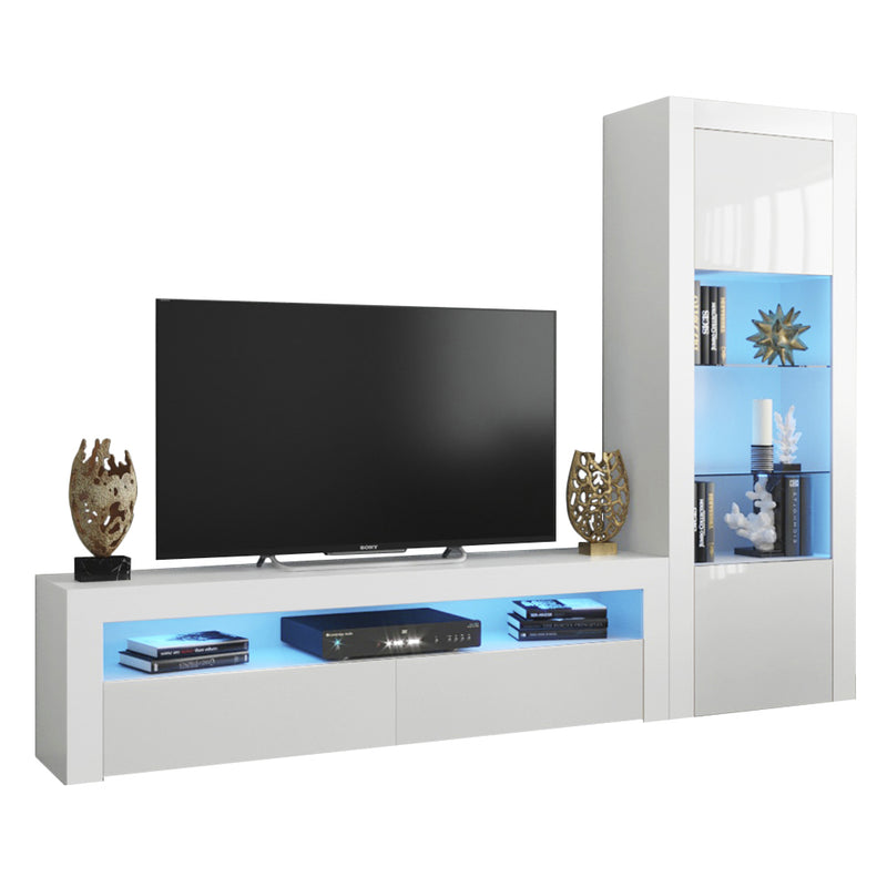 Milano Set CLA-BK Modern Wall Unit Entertainment Center