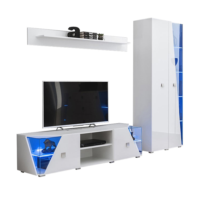 Edge Set TV-BK-SH Modern Wall Unit Entertainment Center - Meble Furniture