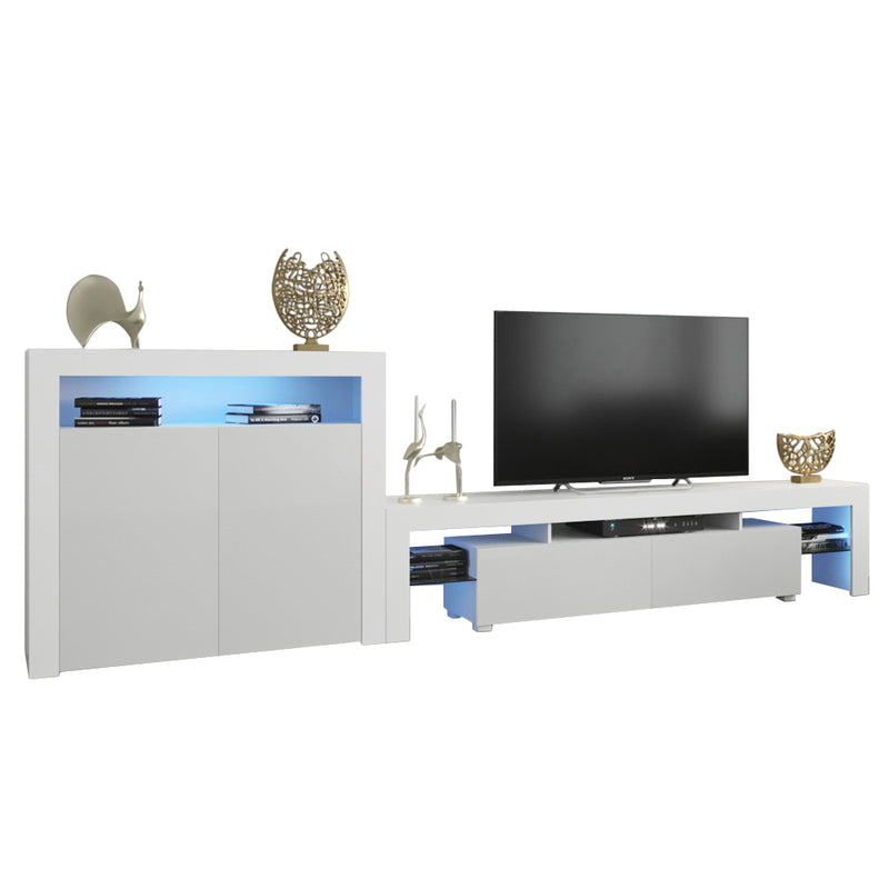 Milano Set 200-2D Modern Wall Unit Entertainment Center