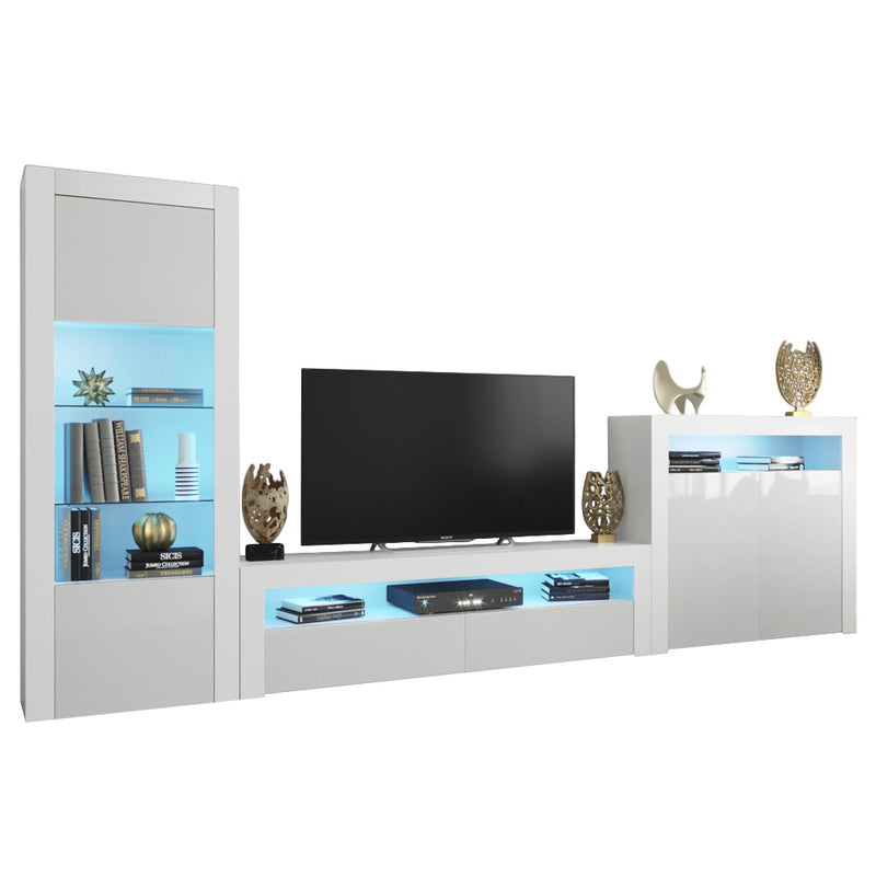 Milano Set CLA-BK-2D Modern Wall Unit Entertainment Center