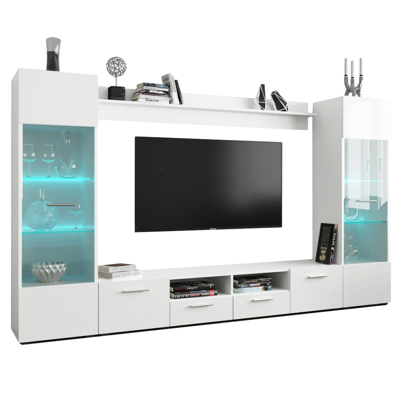 "Modica Modern 102"" Wall Unit Entertainment Center"