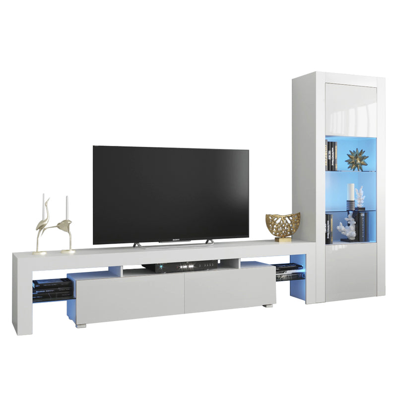 Milano Set 200-BK Modern Wall Unit Entertainment Center - Meble Furniture & Rugs