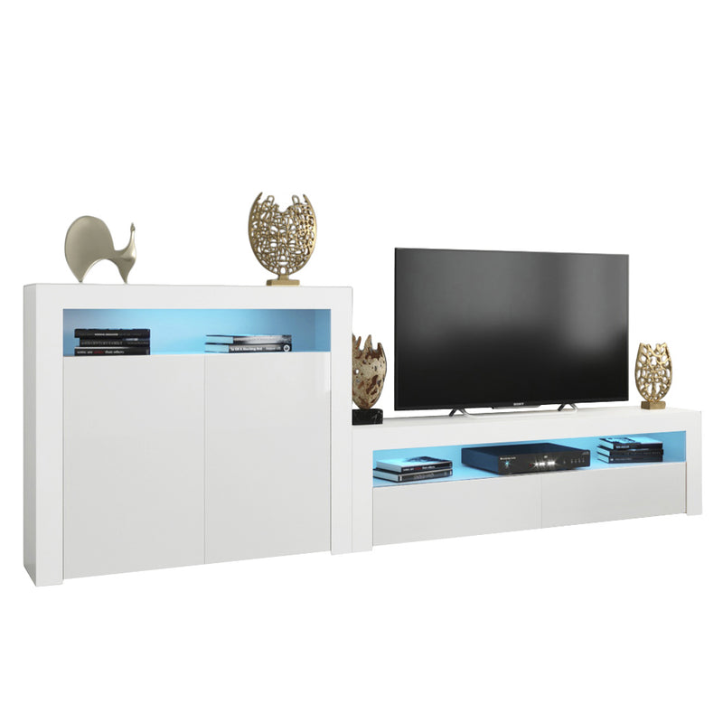Milano Set CLA-2D Modern Wall Unit Entertainment Center - Meble Furniture