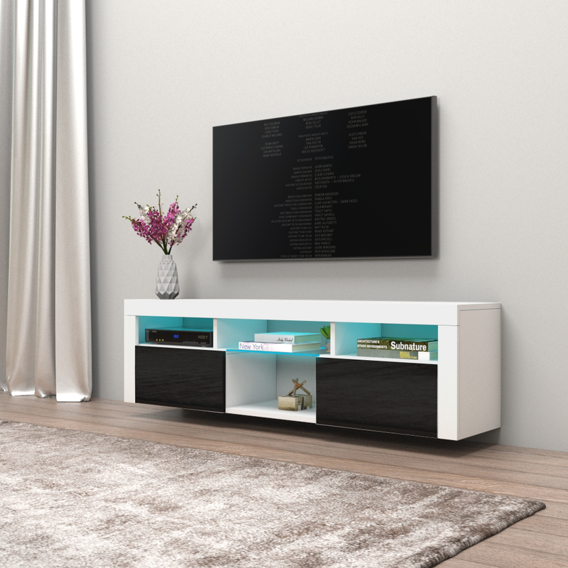 "Bari 160 Wall Mounted Floating Modern 63"" TV Stand - Meble Furniture"