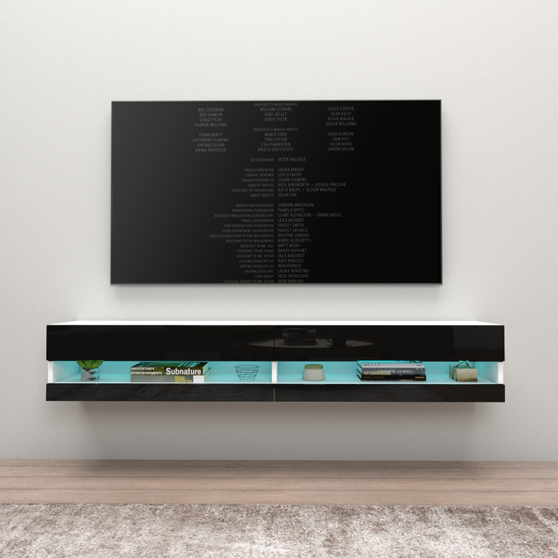 "Vigo Wall Mounted Floating Modern 71"" TV Stand - Meble Furniture"