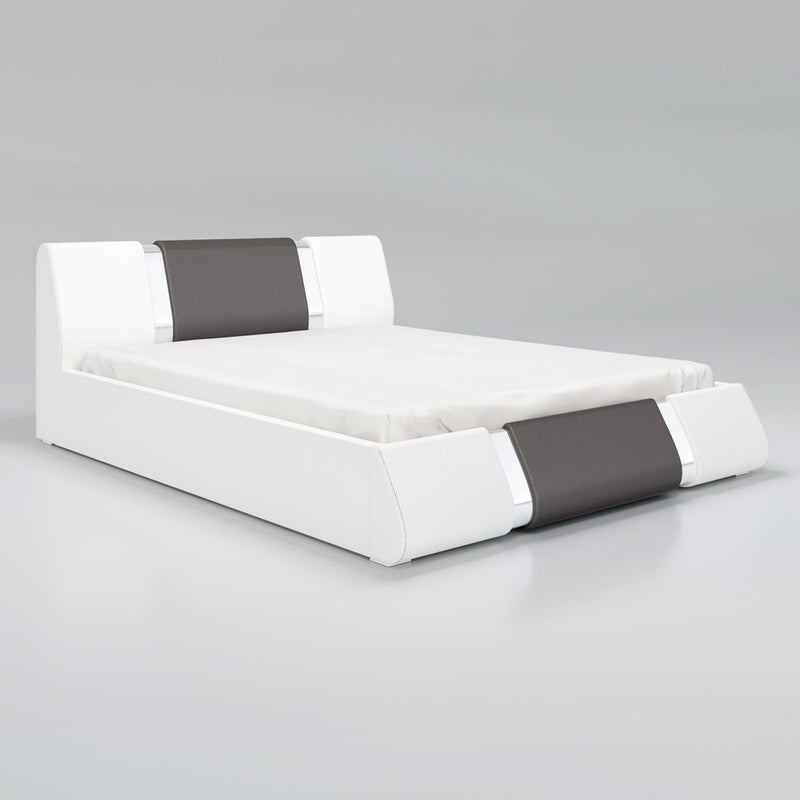 Rio Modern Upholstered Low Profile Platform Bed with Storage - Meble Furniture