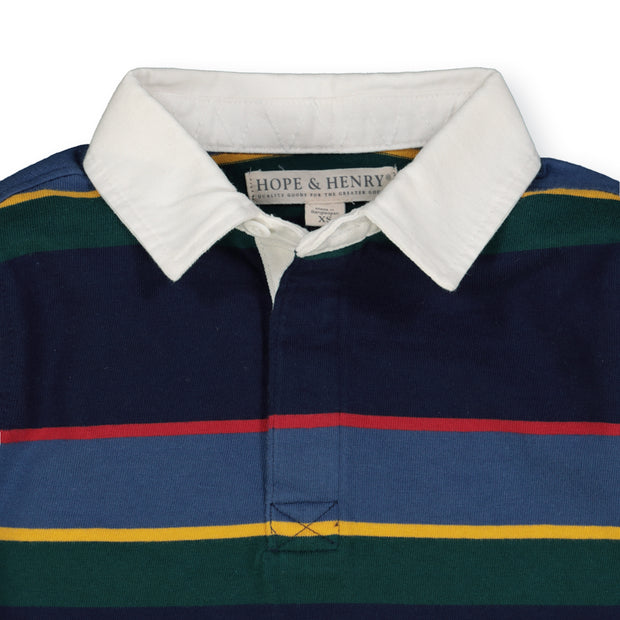 Long Sleeve Rugby Shirt - Hope & Henry Boy