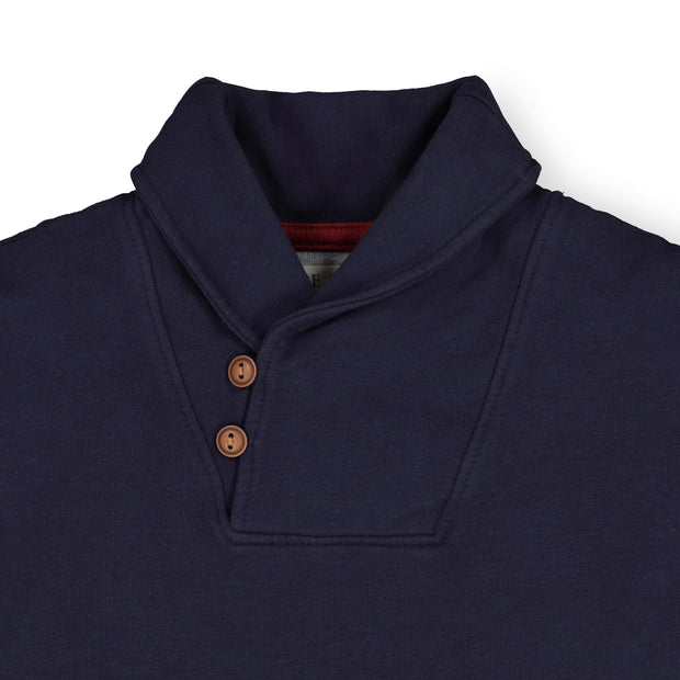French Terry Shawl Collar Pullover - Hope & Henry Boy