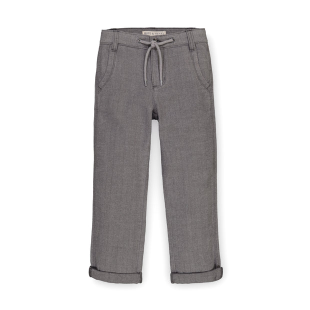 Rolled Cuff Pant with Drawstring - Hope & Henry Boy