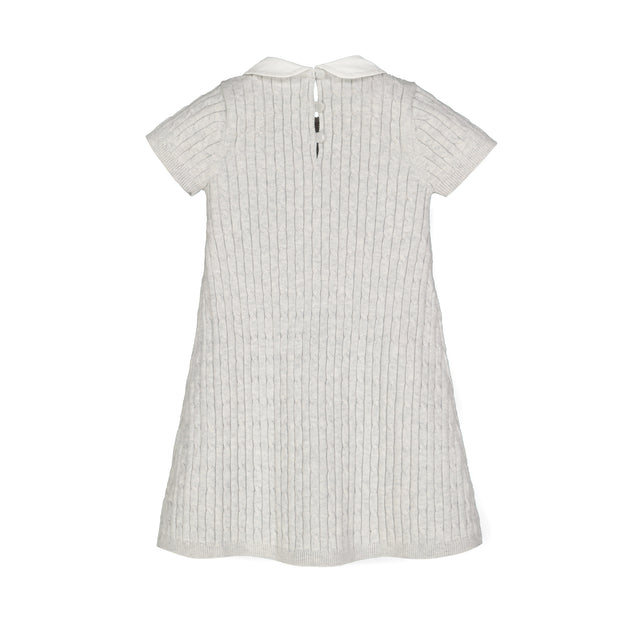 Short Sleeve Cable Dress with Collar