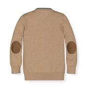 Tipped Cardigan with Elbow Patches - Hope & Henry Boy